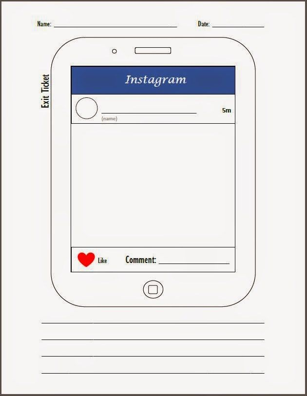 Instagram Exit Ticket - Have students show you a snapshot of what ...