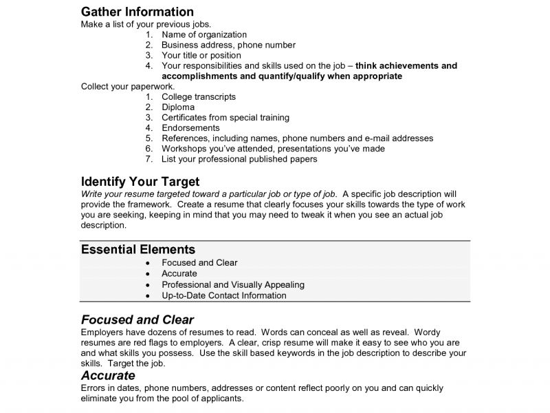 How To Make Perfect Resume] How To Write The Perfect Resume .