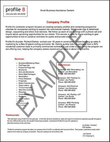 Company Profile Sample Format Download | Cover Letter Samples ...