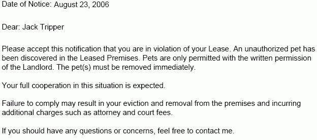 Lease Violation Notice – Tenant Violation Notices   EZ Landlord Forms