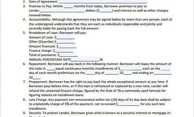 Loan Contract Template – 26+ Examples In Word, Pdf | Free within ...