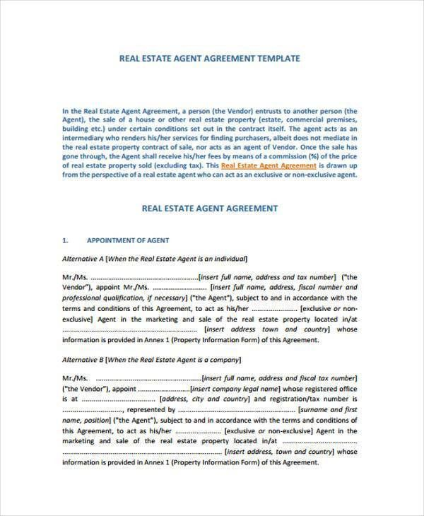 6+ Exclusive Agency Agreement Form Samples - Free Documents in ...