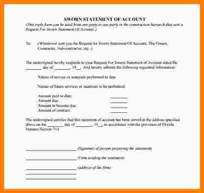 Blank Sworn Statement | Samples.csat.co