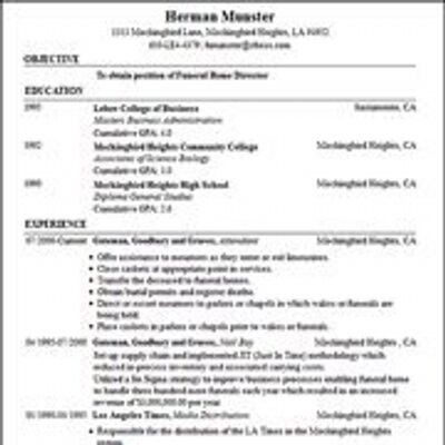Resume Template Builder - Resume Example