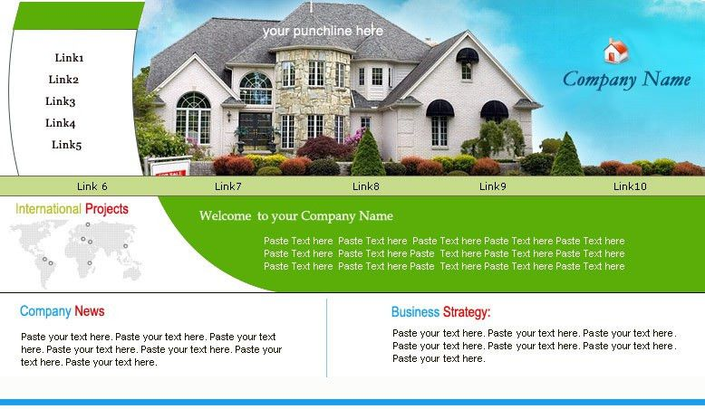 real estate web template 8