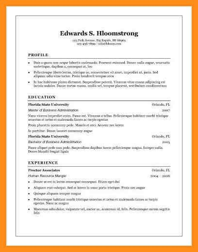 16+ word template for resume – agenda example