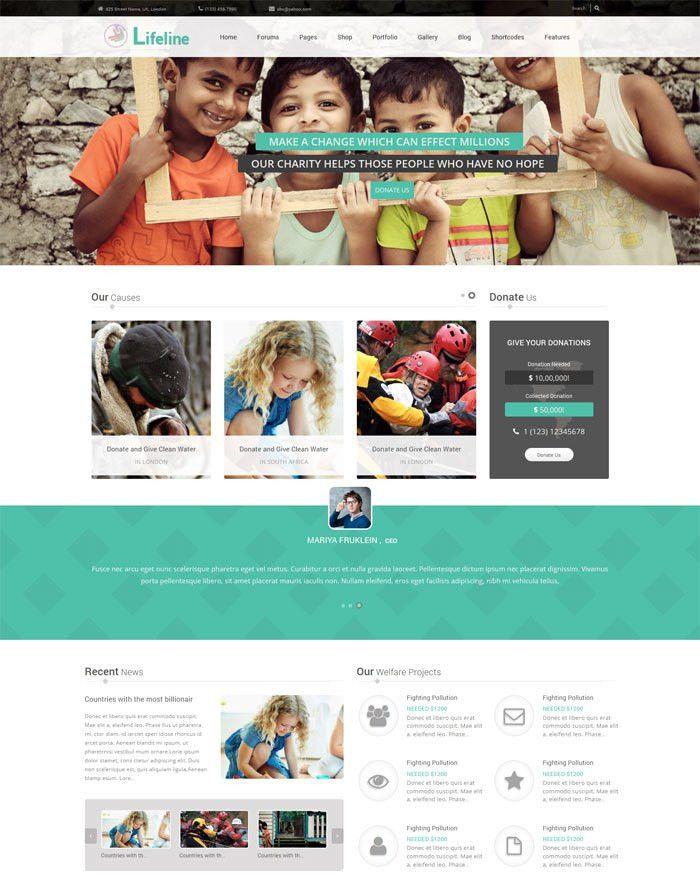 20 + Premium Nonprofit Website Templates