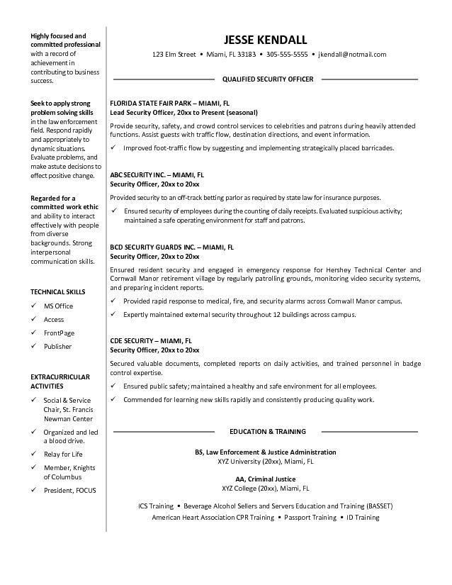 Download Security Supervisor Resume | haadyaooverbayresort.com