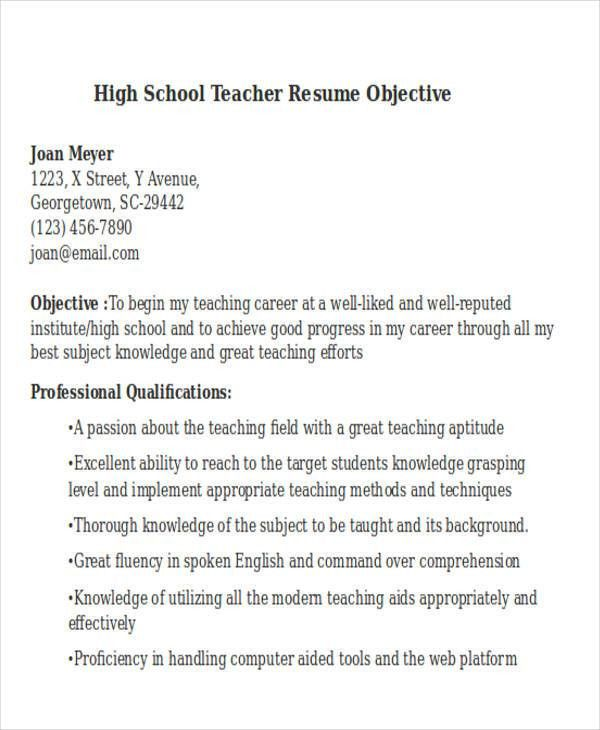Teachers Resume Objective. preschool teacher resume objective ...