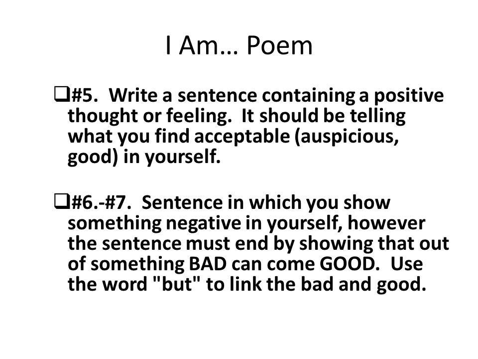 I am poem how to write
