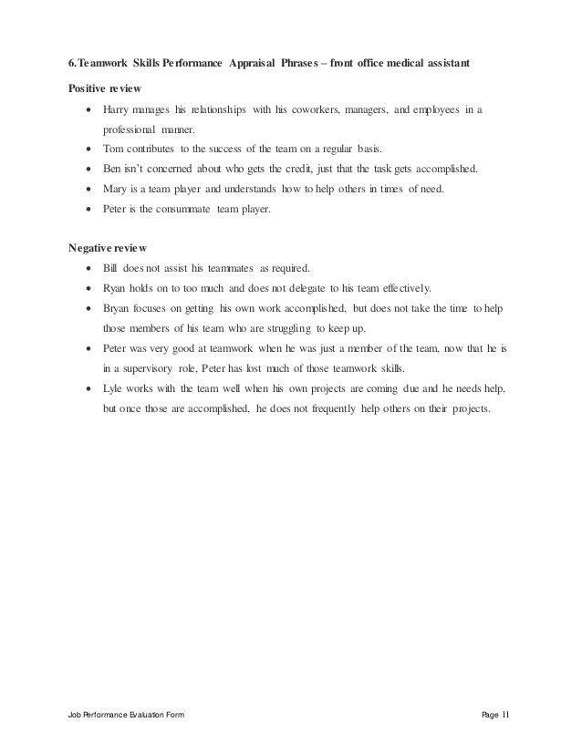Medical front office resume skills