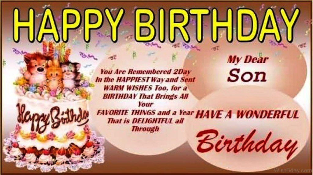 43 Birthday Wishes For Son