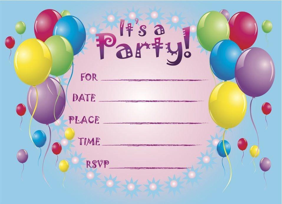 Free Printable Birthday Invitations | Birthday Party Invitations