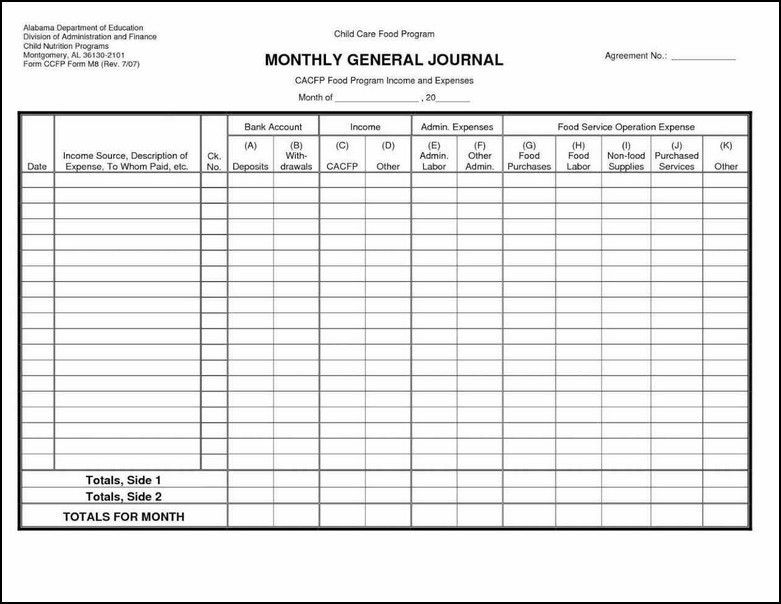 Ledger Sheet Template Excel General Ledger Sheets Printable ...