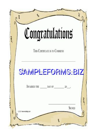 Congratulations Certificate templates & samples forms