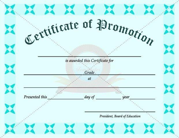 School Promotion Certificate Template | SCHOOL CERTIFICATE ...