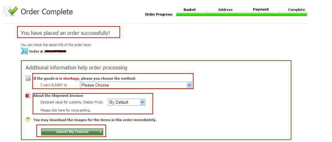SUNSKY - How to Make Order
