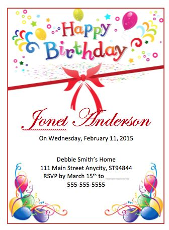 Sample Birthday Flyer | Free Flyer Templates