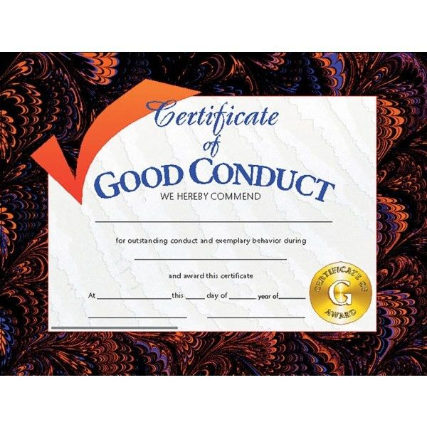Student Certificate of Good Conduct, Teaching Supplies | A ...