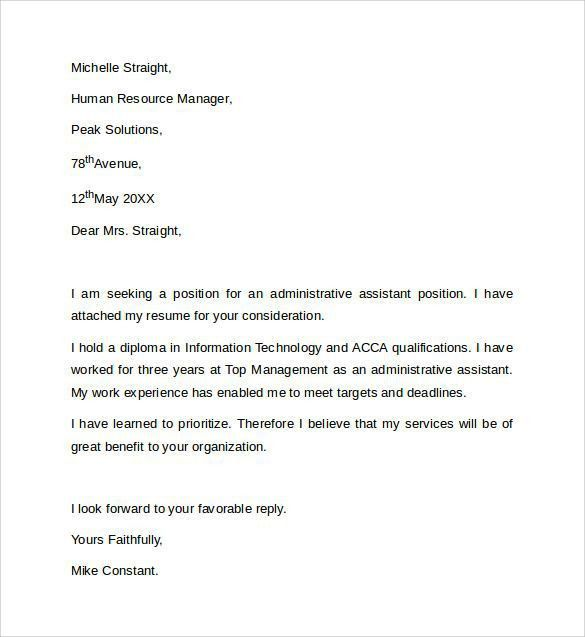 The 25+ best Cover letter sample ideas on Pinterest | Cover letter ...