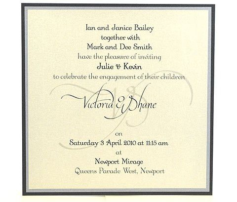 Sterling Silhouette Engagement Invitation - Engagements ...