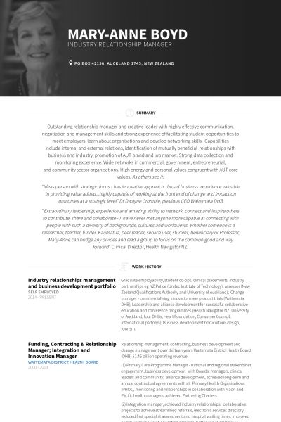 Business Development Resume samples - VisualCV resume samples database