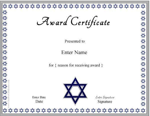 Jewish Certificates