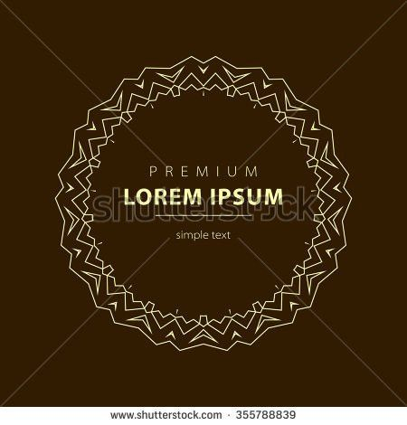 Outline Emblems Badges Abstract Logo Templates Stock Illustration ...