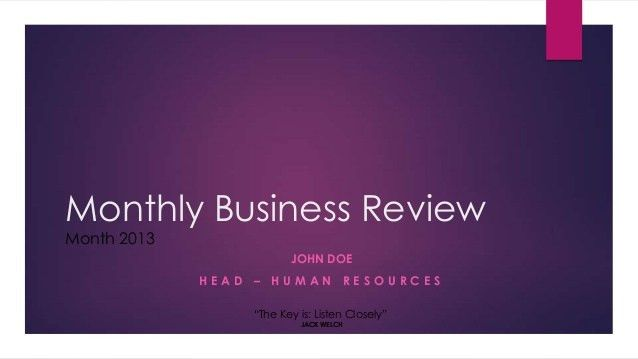 Business report example ppt