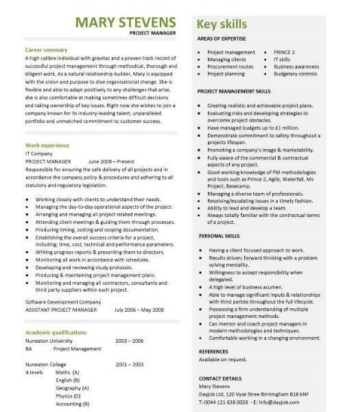 Most Interesting Construction Project Manager Resume 15 Project CV ...