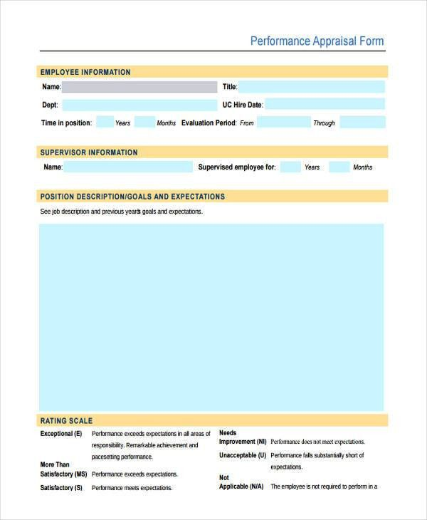 23+ Performance Appraisal Forms in PDF