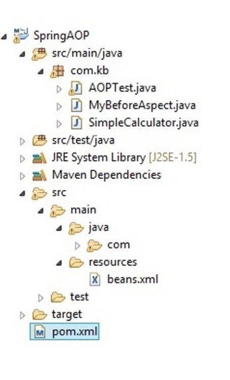 Spring AOP with AspectJ XML configuration Example | Javainsimpleway