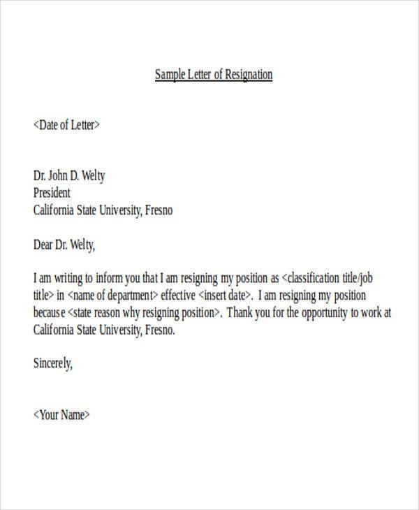 21+ Resignation Letter Format | Free & Premium Templates