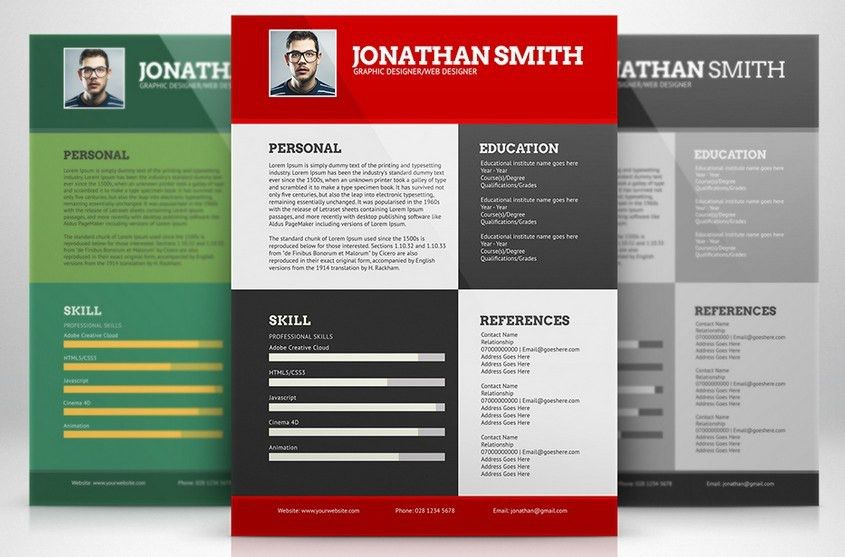 colorful resume template free download download 35 free creative