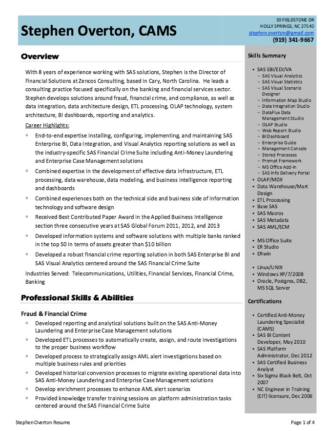 Business Intelligence Analyst Resume Example - http ...