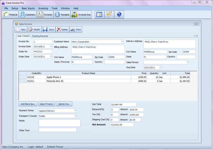 Freeware Download: Invoicing Software