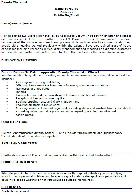 Wonderful Beauty Therapist Resume Sample] Beauty Therapist Cover Letter, Top .