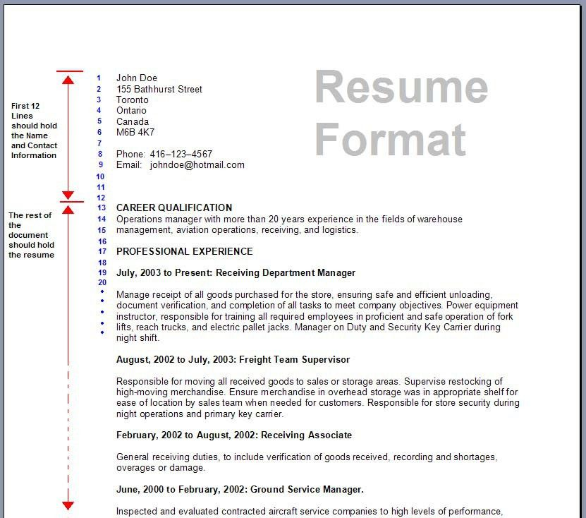 simple sample resume format basic resume format service resume ...