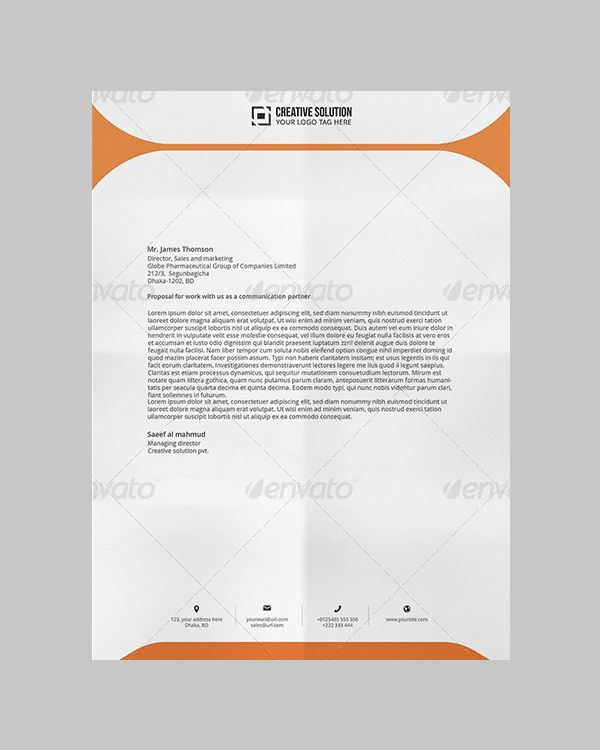 letterhead design in word - Template