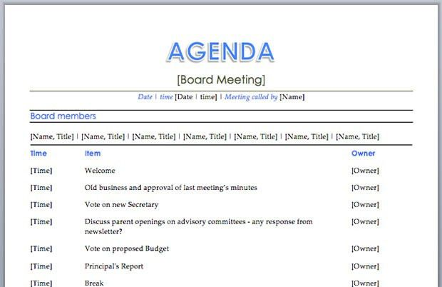10 Best Images of Quality Meeting Agenda Template - Sample Team ...