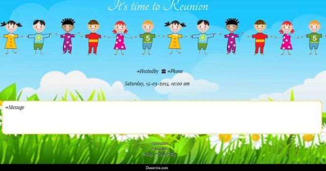 Invitation Card For Get Together | PaperInvite