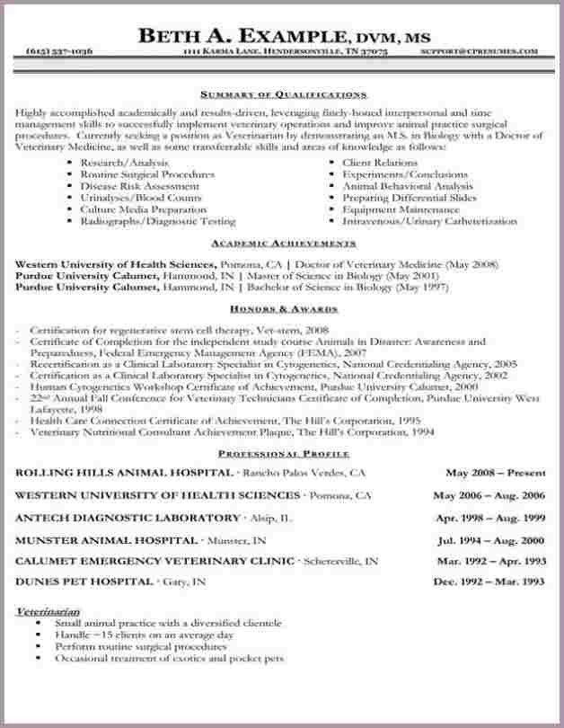 Vet Tech Resume.resume Veterinary Technician Veterinary Technician ...