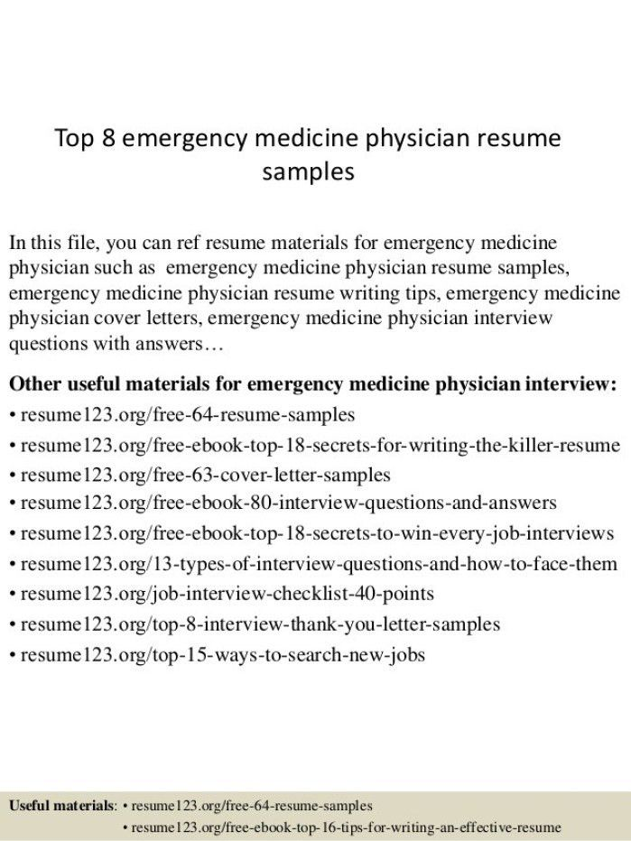 physician cover letters