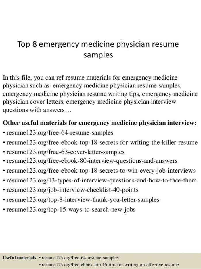 Er Doctor Cover Letter