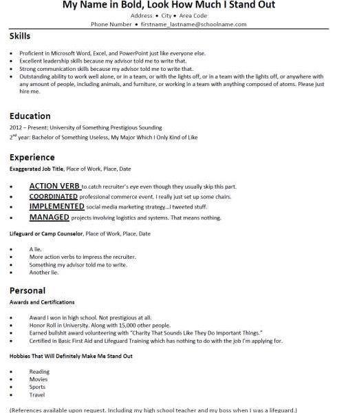 Download Typical Resume | haadyaooverbayresort.com