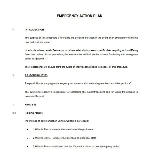 Emergency Action Plan Template – 8+ Free Sample, Example, Format ...