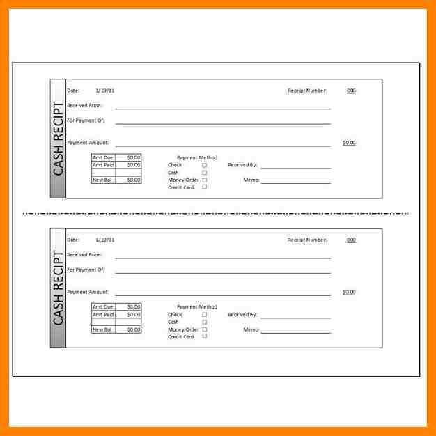 Receipt Form In Doc. Blank Receipt , Receipt Template Doc For Word ...