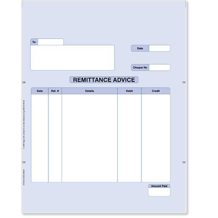 Sage Remittance Advice | Stationery | Sage Store