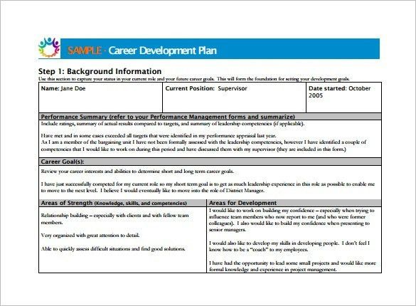 Career Development Plan Template – 10 Free Word & Pdf Documents ...