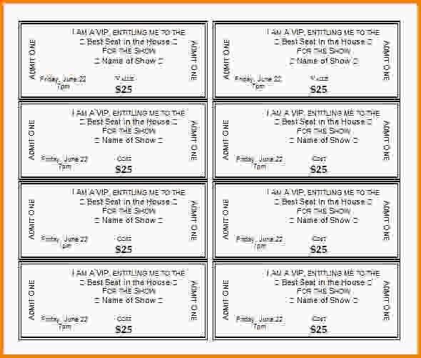 Show Ticket Template Thermal Ticket Printing Thundertix On Demand – Event Tickets Template Word